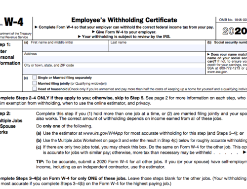 The New Form W-4 Form is Different. Really Different.