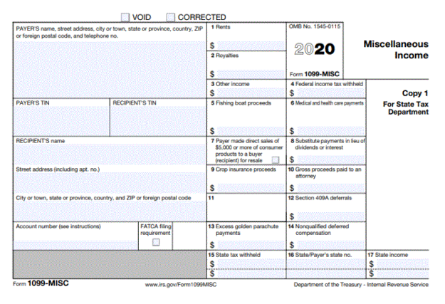 IRS 1099-NEC Form Example