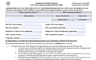 ALERT: New PPP Forgiveness Form & Guidance for Loans $50K and Less 1