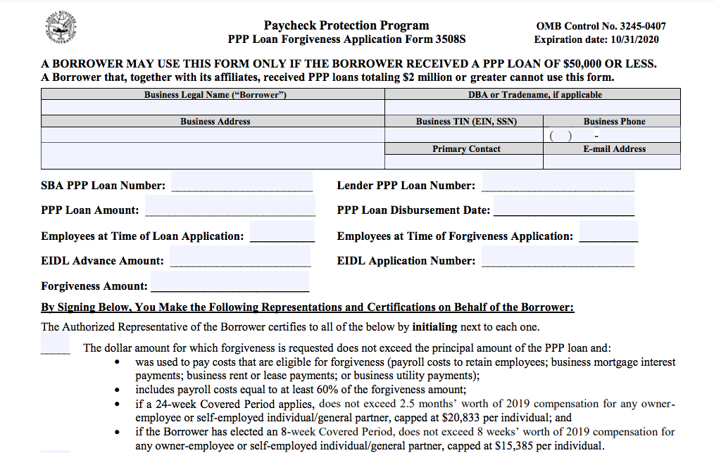 ALERT: New PPP Forgiveness Form & Guidance for Loans $50K and Less 5