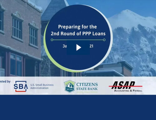 ASAP Webinar: Preparing for the 2nd Round of PPP Loans